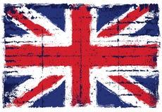 Elementos do Grunge com a bandeira de Reino Unido Ilustração Royalty Free