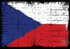 Elementos do Grunge com a bandeira de República Checa Ilustração Stock