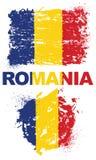 Elementos do Grunge com a bandeira de Romênia Ilustração do Vetor