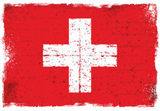 Elementos do Grunge com a bandeira de Suíça Imagens de Stock