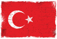 Elementos do Grunge com a bandeira de Turquia Imagens de Stock