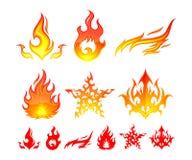 Elementos do incêndio Fotos de Stock Royalty Free