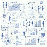 Elementos do infographics das cartas de negócio da garatuja Foto de Stock Royalty Free