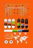 Elementos do infographics e dos ícones Fotografia de Stock Royalty Free