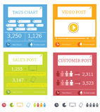 Elementos do Informação-gráfico Fotografia de Stock