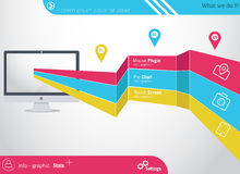 elementos do Informação-gráfico Foto de Stock