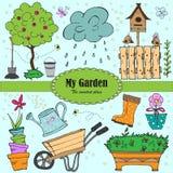 Elementos do jardim Imagens de Stock