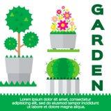 Elementos do jardim ilustração royalty free