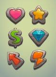 Elementos do jogo ilustração stock