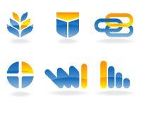 Elementos do logotipo do vetor Fotografia de Stock