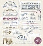 Elementos do menu Imagem de Stock Royalty Free