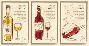 Elementos do menu da bebida Fotos de Stock