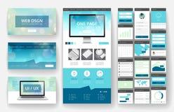 Elementos do molde e da relação do projeto do Web site ilustração royalty free
