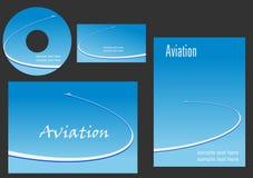 Elementos do molde para o projeto da aviação Imagens de Stock Royalty Free