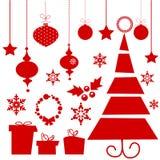 Elementos do Natal Fotografia de Stock