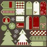 Elementos do Natal fotos de stock