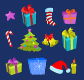 Elementos do Natal Foto de Stock Royalty Free