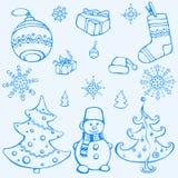 Elementos do Natal do vetor Ilustração Stock