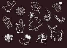 Elementos do Natal e do ano novo Imagem de Stock