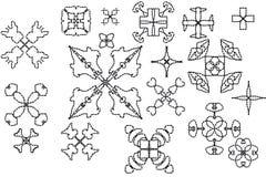 Elementos do ornamento Imagens de Stock