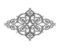 Elementos do ornamento, designs florais do cinza do vintage Fotografia de Stock Royalty Free