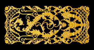 Elementos do ornamento, designs florais do ouro do vintage Imagem de Stock Royalty Free