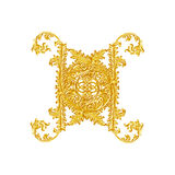 Elementos do ornamento, designs florais do ouro do vintage Imagens de Stock Royalty Free