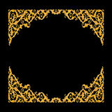 Elementos do ornamento, designs florais do ouro do vintage Fotografia de Stock Royalty Free