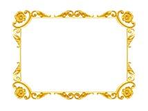Elementos do ornamento, designs florais do quadro do ouro do vintage Foto de Stock Royalty Free