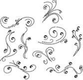Elementos do ornamento floral Imagens de Stock Royalty Free