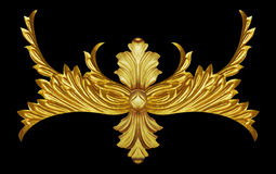 Elementos do ornamento, ouro do vintage floral Imagens de Stock Royalty Free