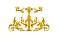 Elementos do ornamento, ouro do vintage floral imagem de stock royalty free