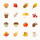 Elementos do outono ilustração stock