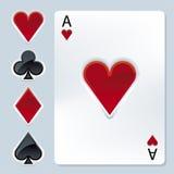 Elementos do póquer (vetor) Imagens de Stock