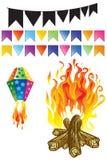 Elementos do partido de junho Imagem de Stock Royalty Free