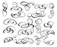 Elementos do projeto ajustado Ilustração do vetor Branco preto Foto de Stock