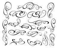 Elementos do projeto ajustado Ilustração do vetor Branco preto Imagem de Stock