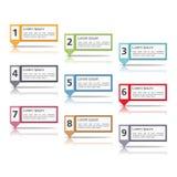Elementos do projeto com números ilustração stock
