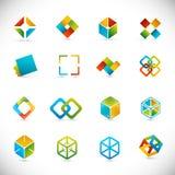 Elementos do projeto - cubos Imagem de Stock