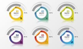 Elementos do projeto da apresentação do diagrama da porcentagem Infographics Vetor ilustração do vetor