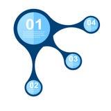 Elementos do projeto da bandeira de Infographic Imagens de Stock
