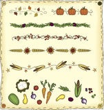 Elementos do projeto da colheita Foto de Stock