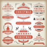 Elementos do projeto da decoração do Natal Imagens de Stock