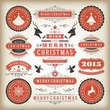Elementos do projeto da decoração do Natal Foto de Stock Royalty Free