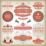 Elementos do projeto da decoração do Natal Imagem de Stock Royalty Free