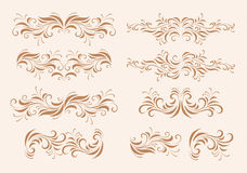 Elementos do projeto da elegância Ilustração do Vetor