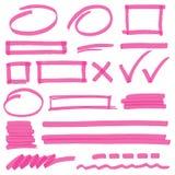 Elementos do projeto da marcação do highlighter Imagem de Stock