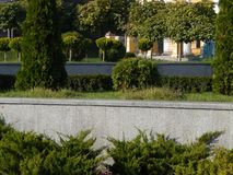 Elementos do projeto da paisagem do parque do jardim fotos de stock