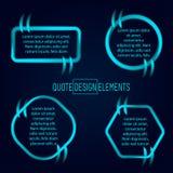 Elementos do projeto das citações e da tração do bloco Fotos de Stock