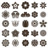 Elementos do projeto das flores em botão Imagem de Stock Royalty Free